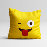 Emoji 'Tongue Out' Pillow Cover