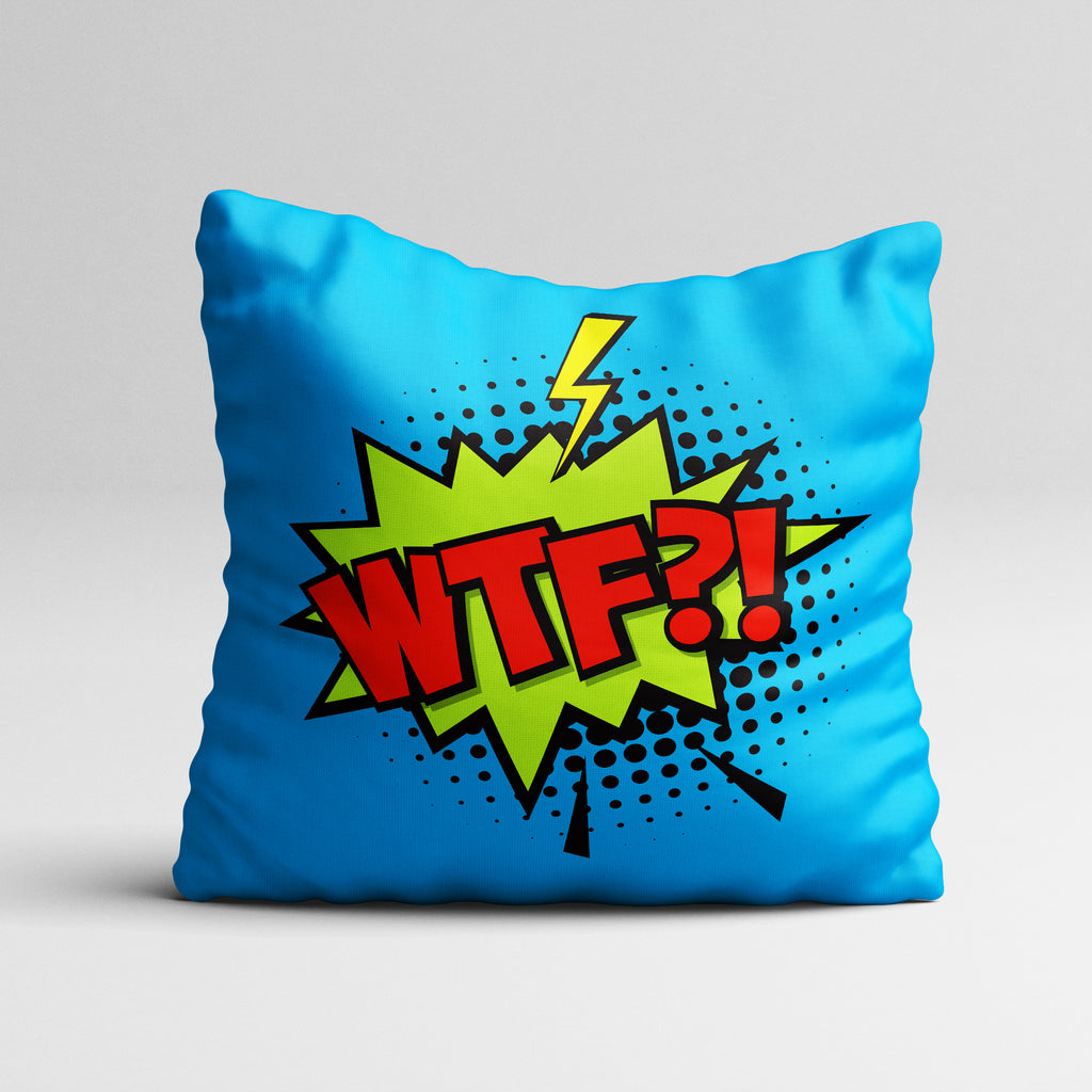 Express it-WTF Throw Pillow Cover
