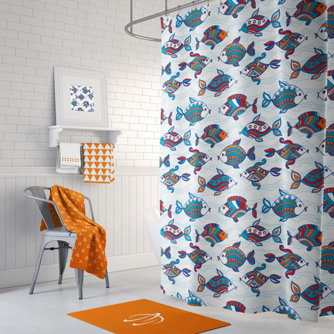 Fish Season Shower Curtain