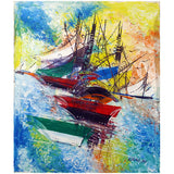 'Fishing season' Haitian painting | Latitudes World Décor