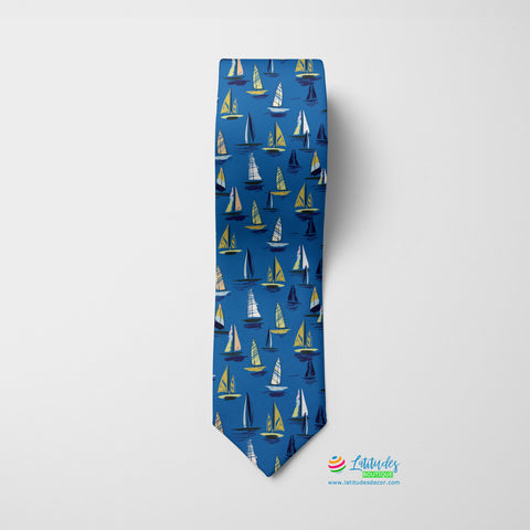Forever Sailing Printed Tie