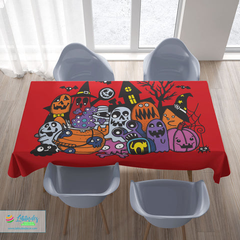 Halloween Monsters Tablecloth