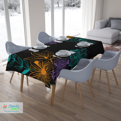 Autumn Floral Harvest Tablecloth
