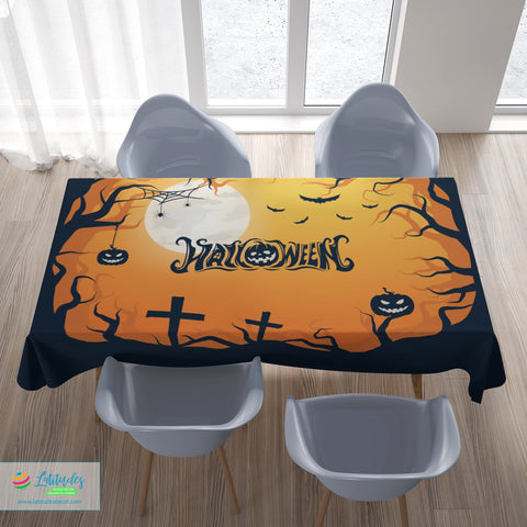 Halloween Moon Tablecloth