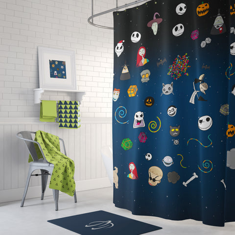 Halloween Pot Pourri Shower Curtain