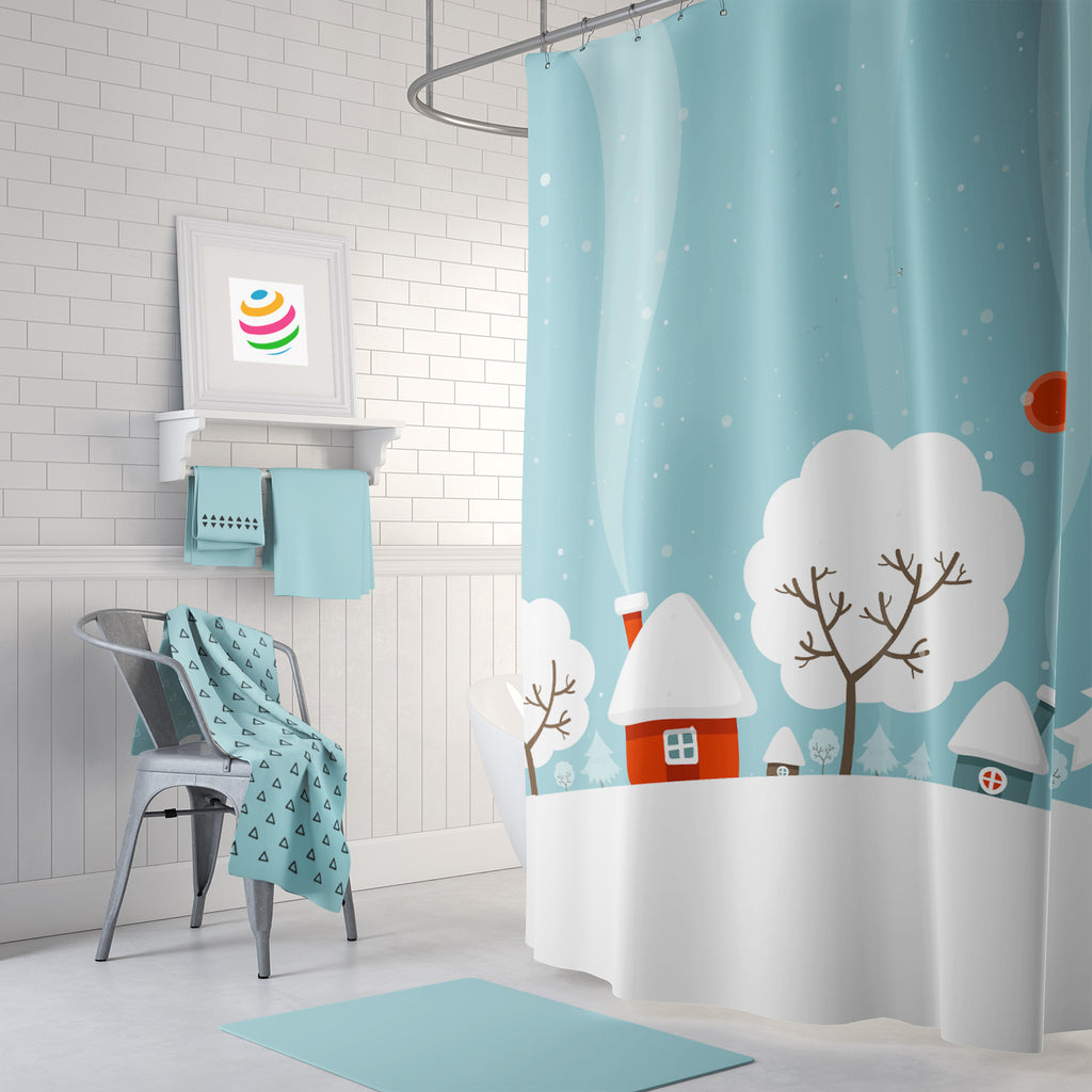 Winter at Home Shower Curtain
