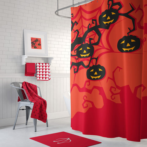 Pumpkin Tree Shower Curtain