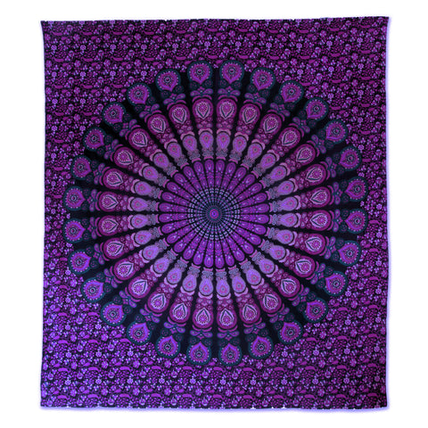 Indian Purple Lilac Tapestry