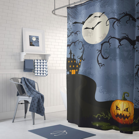 Halloween Mansion Shower Curtain