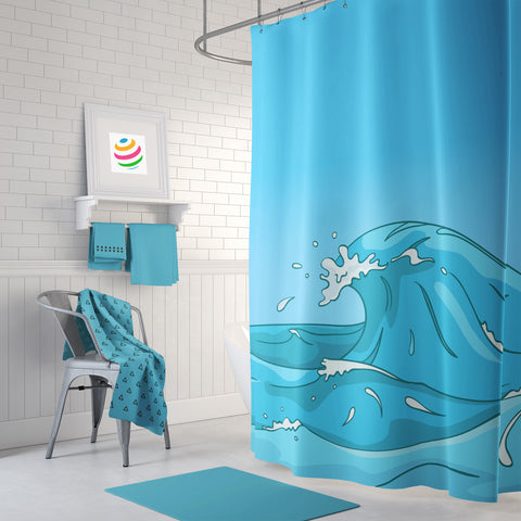 Las Olas Shower Curtain