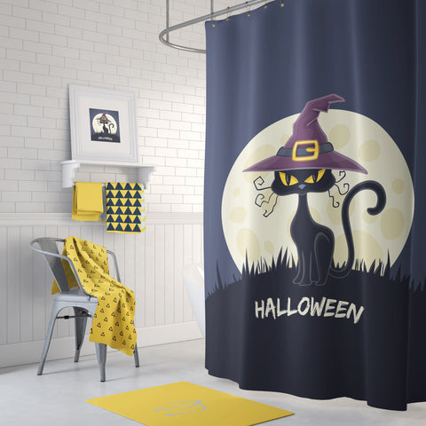 Witch's Cat Shower Curtain