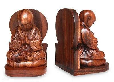 Handcarved bookends from Bali | Latitudes World Décor