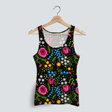 Melania Printed Embroidery Tank Top