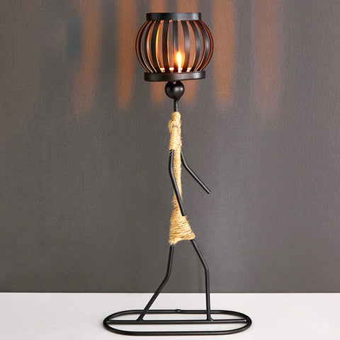 Iron Girl Tealight Candle Holder