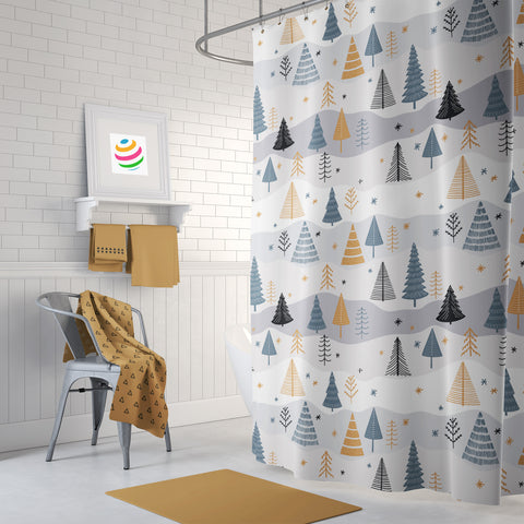 O Tannenbaum Shower Curtain