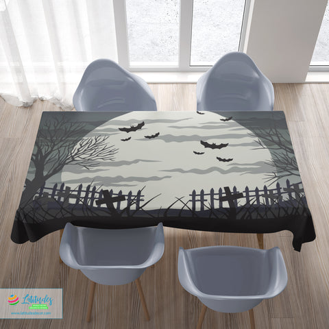 Monochromatic Halloween Tablecloth