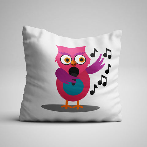 Owl Song One Side Pillow Cover