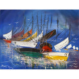 'Port d'attache' Haitian painting | Latitudes World Décor