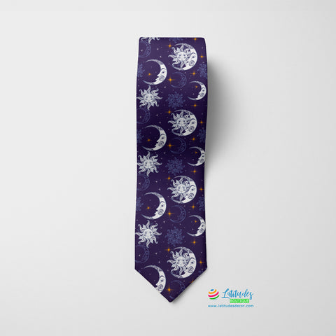 Purple Nights Printed Tie