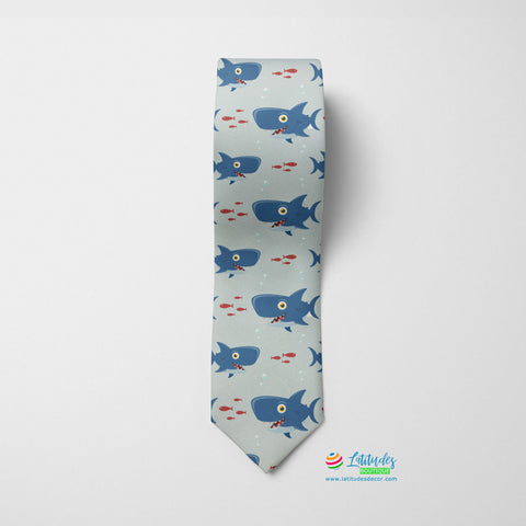 Shark's Lunch Printed Tie