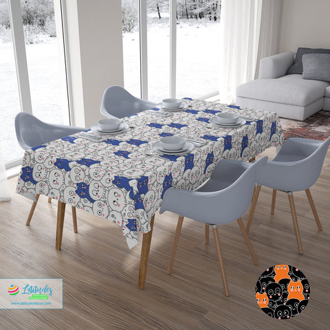 Skulls & Kittens Tablecloth (2 colors)