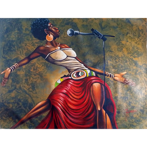 'Spirit of Jazz' Haitian painting | Latitudes World Décor