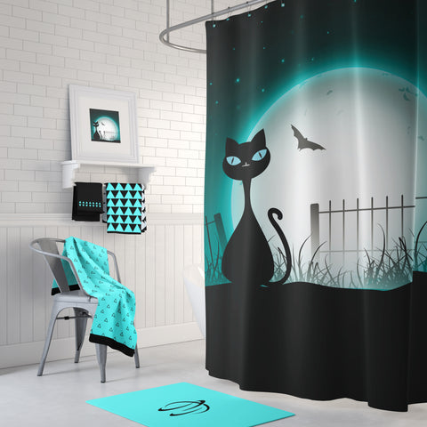 Spooky Kat Shower Curtain