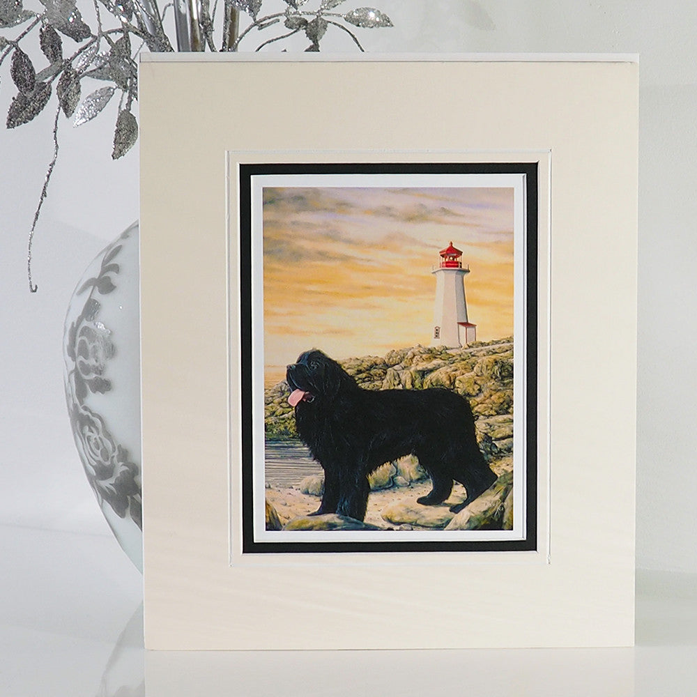 'Storm - Newfoundland Watch Dog' Art Print