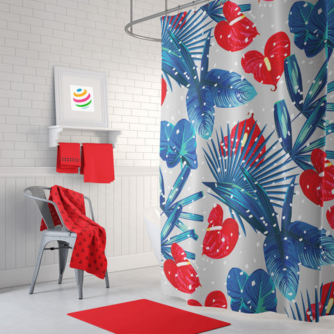 Tropical Winter Shower Curtain