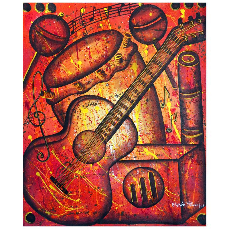 'Tropical Vibrations' Haitian painting | Latitudes World Décor