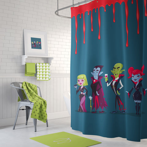 The Vampire Cocktail Shower Curtain