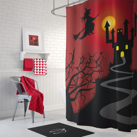 Travelling by Night Shower Curtain