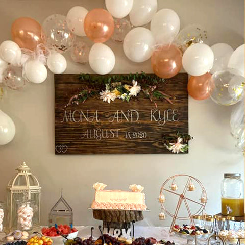 Personalized Wedding Wood Sign