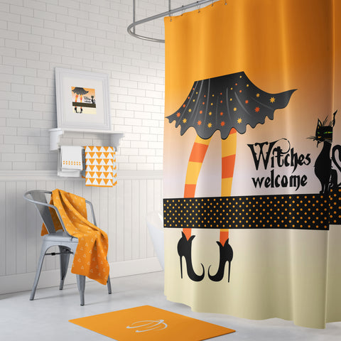 Witches Welcome Shower Curtain (2 colors)