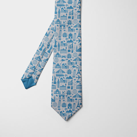 World Icons Printed Tie