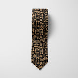 World Icons - Dark Printed Tie