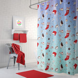 Christmas Doodles Shower Curtain