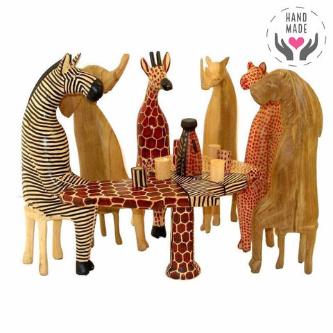 African Party Animal Set Sculptures