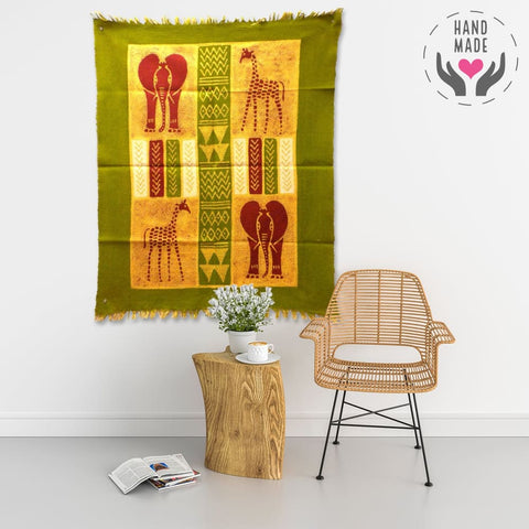 African Quad Batik Wall Art Tapestries