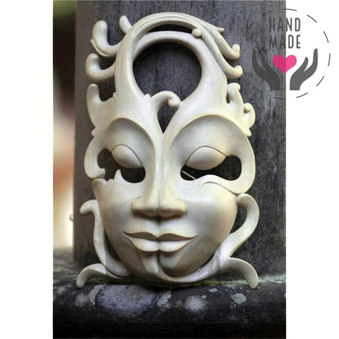 Alter Ego Hibiscus Wood Mask Masks