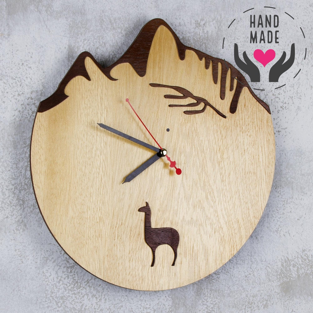 Andean Mountains Clock - Only One Left! Clocks