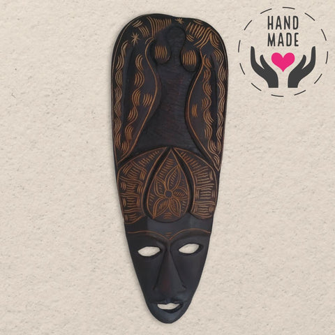 Bayahibe Mahogany Mask | Latitudes World Décor Masks