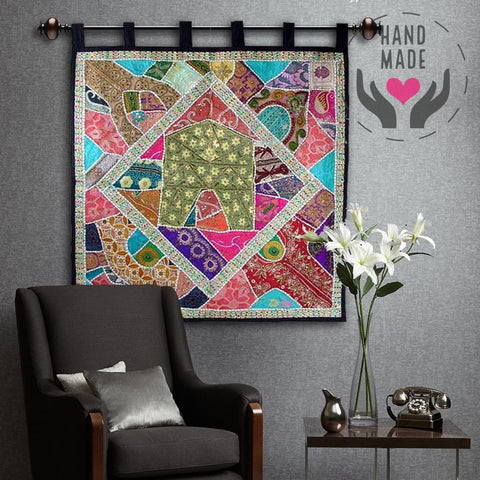 Colors Of India Sequins Tapestry Tapestries