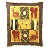 Dancers And Animals Batik Wall Art Tapestries