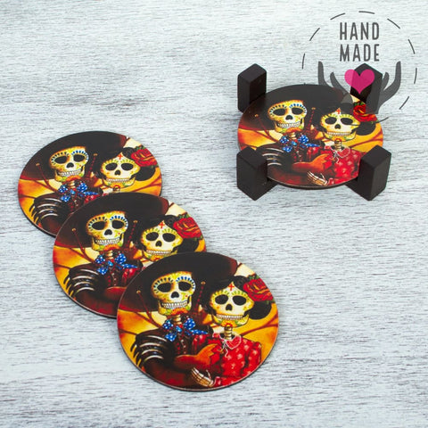 Day Of The Dead Fiances Coasters