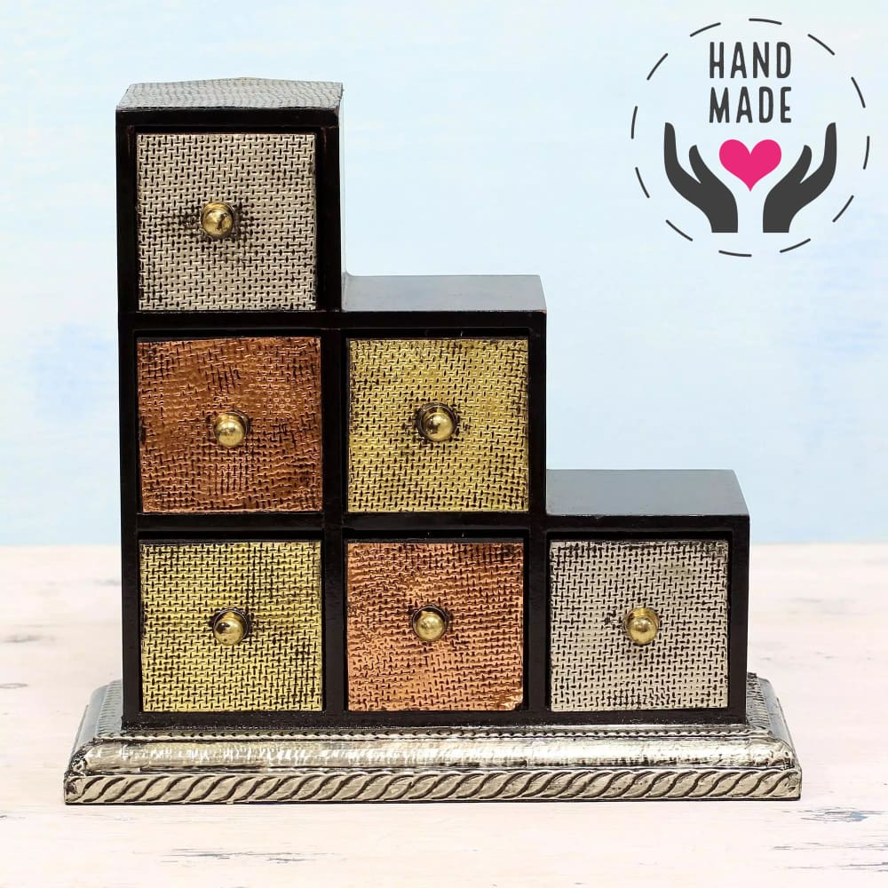 Dazzling Metallics Mini Chest Decorative Boxes