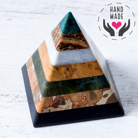 Energy Muse Seven Gems Pyramid Sculptures