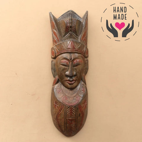 Female Tribal Leader Albesia Wooden Mask Masks