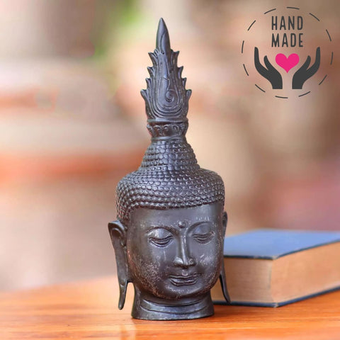 Flame Over Buddha Bronze Statuette Sculptures