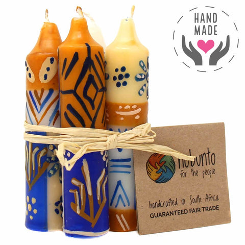 Hand-Painted Durra Design Candles (Set Of 4)